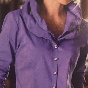 """Soft Surroundings """"Elizabeth"""" size L purple blouse"""